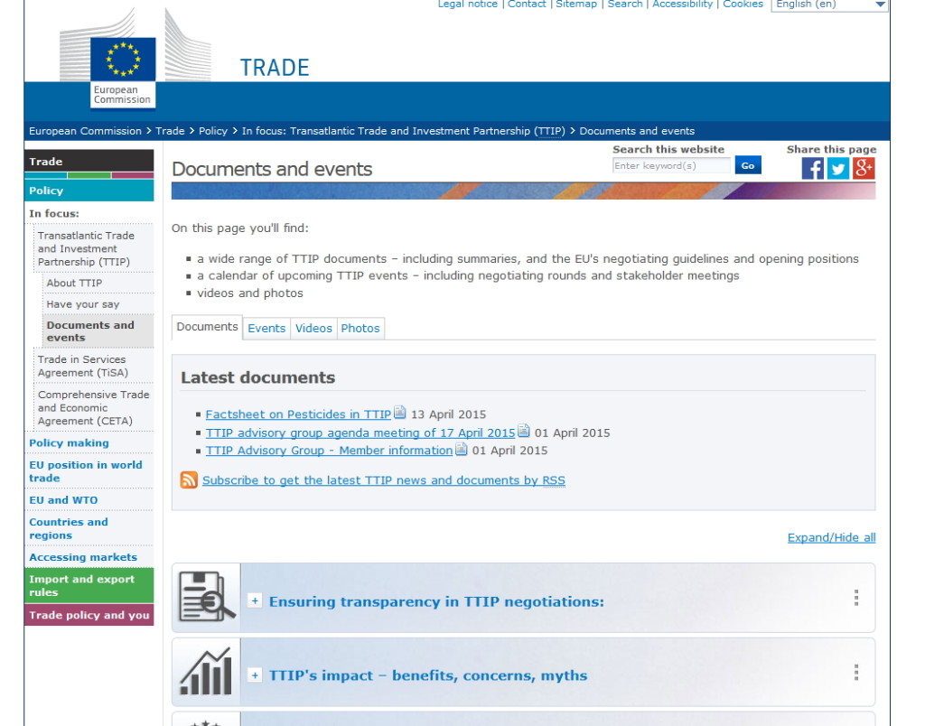 Quelle http://ec.europa.eu/trade/policy/in-focus/ttip/documents-and-events/index_en.htm#eu-position 19.4.2015