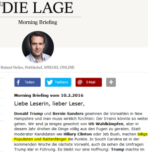 Screenshot www.spiegel.de / 10.2.2016